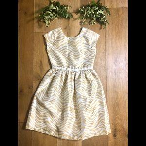 Gymboree holiday dress gold stripe girls 12
